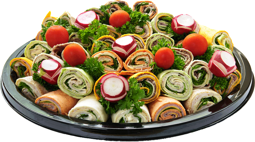 catered wrap tray